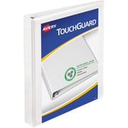 Avery TouchGuard Antimicrobial 1-Inch Slant D 3-Ring Binder, White (17141)