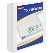 Avery TouchGuard Antimicrobial 1.5-Inch Slant D 3-Ring Binder, White (17142)