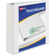 "Avery TouchGuard Protection View Binder with 2"" Slant Rings, White (17143)"