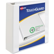 "Avery TouchGuard Protection View Binder with 3"" Slant Rings, White (17144)"