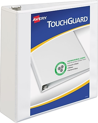 Avery TouchGuard Protection View Binder with 3