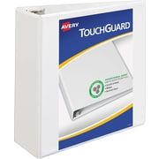 "Avery TouchGuard Protection View Binder with 4"" Slant Rings, White (17145)"