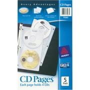 Avery(R) CD Pages 75263, Acid-Free, Pack of 5