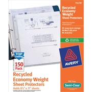 Avery(R) Economy Semi-Clear Sheet Protectors 74170, Acid-Free, Box of 150