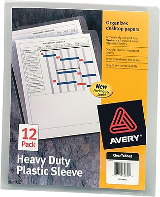 Avery Clear Plastic Sleeve, Heavyweight, Letter, 11