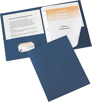 Avery(R) Two-Pocket Folders 47975, Dark Blue, Pack of 25