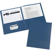 Avery Embossed Two Pocket Folders, Dark Blue, 25/Box (AVE47985) by