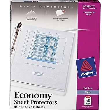 Avery® Diamond Clear-Top Loading Sheet Protectors, 8-1/2x11