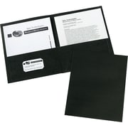 Avery(R) Two Pocket Folders 47988, Black, Box of 25 by