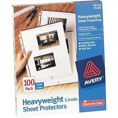 Avery® Heavyweight Presentation Sheet Protectors, 100/Pack