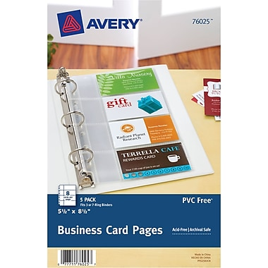 Business card organizer avery 5 12 x 8 12 business colourmoves