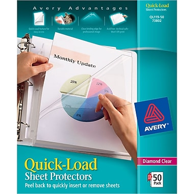 Avery® Quick-Load Sheet Protectors, Diamond Clear