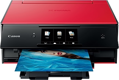 Canon® PIXMA® TS9020 Wireless Multifunction Color Inkjet Printer, Red