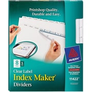 Avery® Clear Label Copier Indexes, 8-Tab