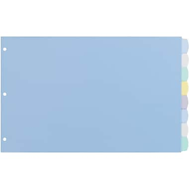 Avery® Durable Translucent Write-On Dividers, 8-Tab, Multicolor, 11