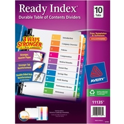 Avery® Ready Index®Table of Contents Dividers for Laser/Inkjet Printers, Numbered 1-10, Multi-Color