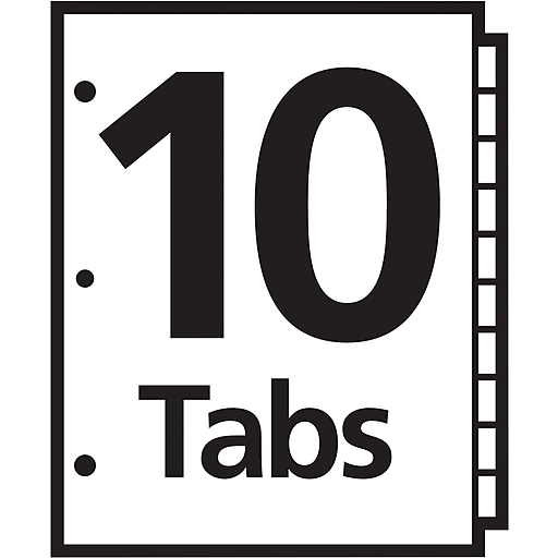 Avery 10 Tab Ready Index Multicolor Table Of Contents Dividers 1