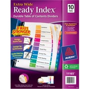 Avery® Ready Index Extra-Wide Table of Contents Dividers, 1-10