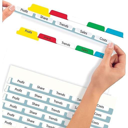 Avery Index Maker Clear Label Tab Dividers 5 Tab Multicolor 5