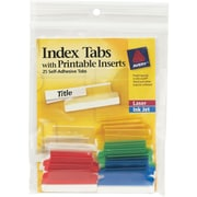 Avery(R) Index Tabs with Printable Inserts 16228, 25 Tabs, 1-1/2""