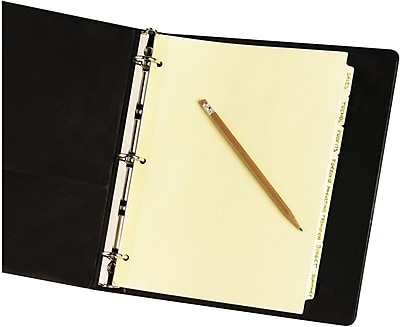 Avery® Write-On Tab Dividers with Non-Laminated Tabs (Recycled), 8-Tab, Buff