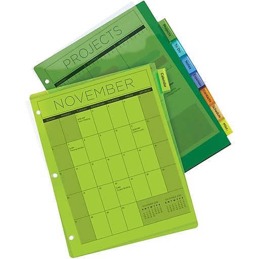 Avery Multicolored Plastic Insertable Tab Dividers 8 Tab Staples
