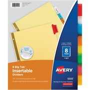Avery® Big Tab Insertable Dividers, Multicolor Tabs with Gold-Reinforced Edge (11111)