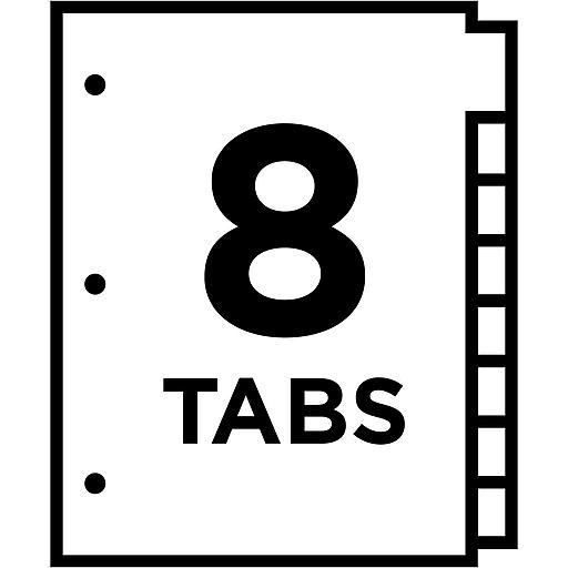 Averyr Big Tabtm Insertable Dividers 11111 8 Tab Set Staples