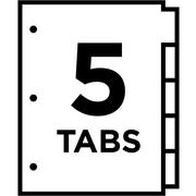 averyr worksaverr big tabtm insertable dividers 11121