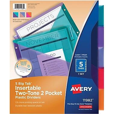 5 Tab Pocket Dividers