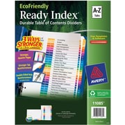 Avery® EcoFriendly Ready Index® Multicolor Table of Contents Dividers, A-Z tab