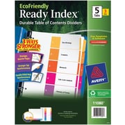 Avery® EcoFriendly Ready Index® Multicolor Table of Contents Dividers, 5-tab