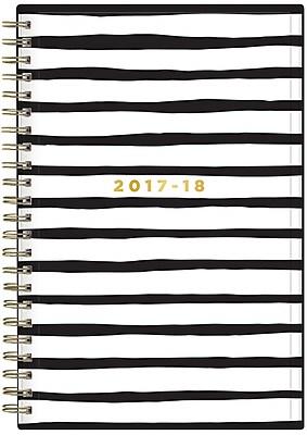 2017-2018 Blue Sky, Academic Ashley G Weekly/Monthly Planner, Black Stripe, 5