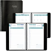 "2017-2018 Brownline® Academic Daily Appointment Book and Monthly Planner, 8"" x 5"", 14 Months, Black (CA201.BLK)"