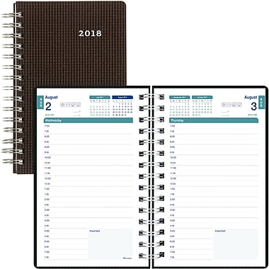 Brownline Duraflex Academic Daily Appointment Book And