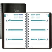 "2017-2018 Brownline® Academic Weekly Planner, 8"" x 5"", Black (CA101.BLK)"