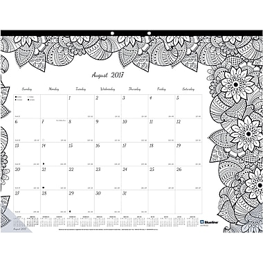 2017-2018 Blueline® DoodlePlan™ Coloring Academic Monthly