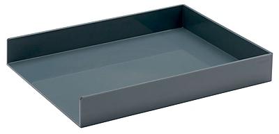Poppin Dark Gray Letter Trays, 2/Pack