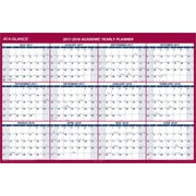 "2018 AT-A-GLANCE® 32""x48"" Vertical/Horizontal Reversible Academic Erasable Wall Calendar,12 Months (PM36AP-28-18)"