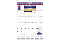 2017-2018 AT-A-GLANCE® 15 1/2'x22 3/4' Academic Monthly Wall Calendar,12 Months (AY3-28-18)