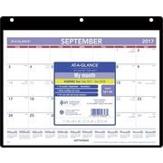 "2017-2018 AT-A-GLANCE® 11"" x 8 1/4"" Academic Monthly Desk/Wall Calendar, 16 Months, September Start (SK7-00-18)"