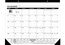 2017-2018 AT-A-GLANCE® 22' x 17' Academic Monthly Desk Pad, 16 Months, September Start (SK2416-00-18)