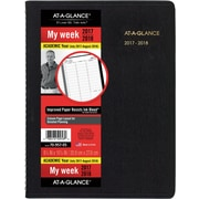 "2017-2018 AT-A-GLANCE® 8 1/4"" x 10 7/8"" Weekly Academic Appointment Book/Planner, 14 Months, Black (70-957-05-18)"