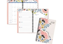 2017-2018 AT-A-GLANCE® 4 7/8' x 8' Claire Academic Weekly/Monthly Planner, 12 Months, Floral (1014-200A-18)
