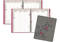 2017-2018 AT-A-GLANCE® 8 1/2' x 11' Pop Robin Academic Weekly/Monthly Appointment Book/Planner, 13 Months, Gray (601-905A-18)