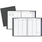 "2017-2018 AT-A-GLANCE® Academic DayMinder® Weekly/Monthly Appointment Book/Planner, 12 Months, Gray, 8-1/2"" x 11"""