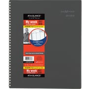 "2017-2018 AT-A-GLANCE® 8 1/2"" x 11"" DayMinder® Academic Weekly/Monthly Appointment Book/Planner, 12 Months, Gray (AYC520-45-18)"