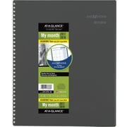 "2017-2018 AT-A-GLANCE® 8 1/2"" x 11"" DayMinder® Academic Monthly Planner, 12 Months, Charcoal (AYC470-45-18)"