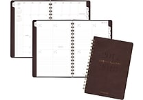 2017-2018 AT-A-GLANCE® 5 3/4' x 8 1/2' Collection Academic Weekly/Monthly Planner, 13 Months, Brown (YP105A-0418)