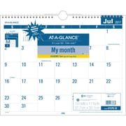 "2017-2018 AT-A-GLANCE® Academic Easy to Read Monthly Wall Calendar, 12 Months, 15"" x 12"""